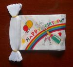 Happy Birthday Bunting, rectangular, 9 metre.
